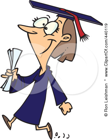 440119-Cartoon-Female-College-Graduate-Walking-Poster-Art-Print